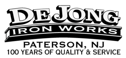 De Jong Iron Works, Inc. Logo