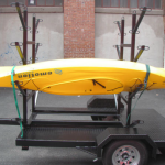 Trailer with kayak